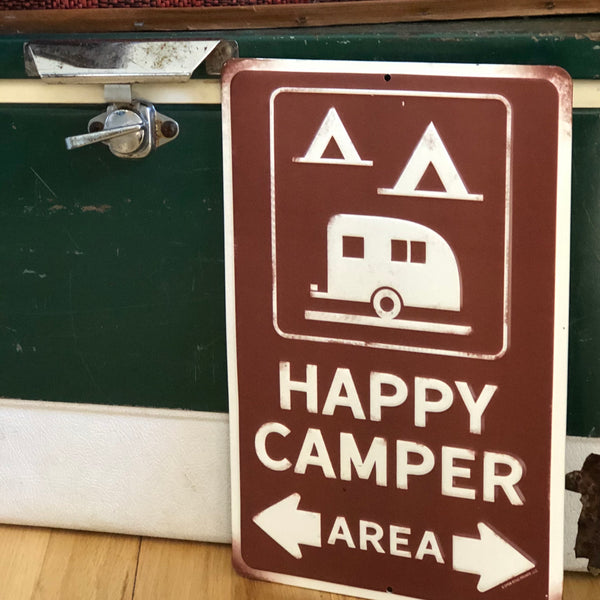 Happy Camper Area Sign
