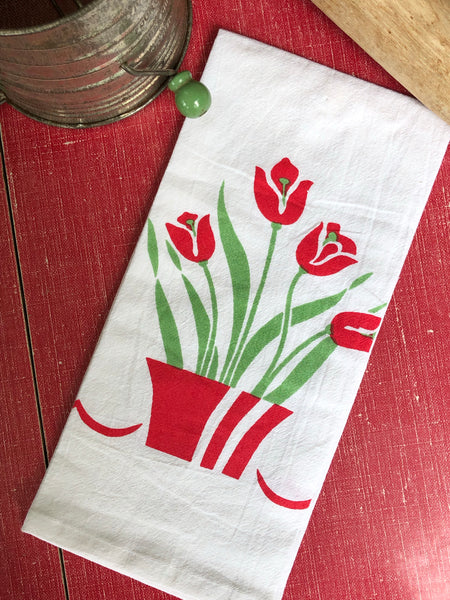 Vintage Tulip Tea Towel