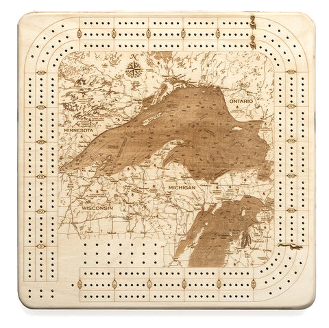 Lake Superior Cribbage Board