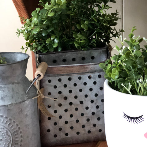 Farmhouse Grater Planter