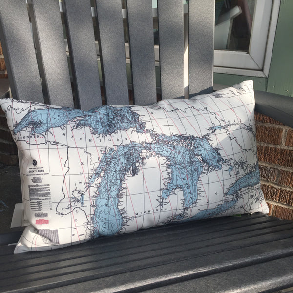 Great Lakes Pillow shown on Adirondack Chair