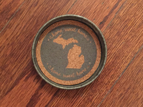 Mason Jar Lid Michigan Coasters