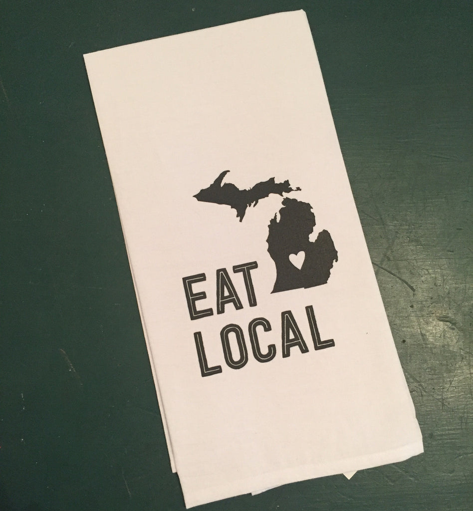 Eat Local Michigan Kitchen Towel