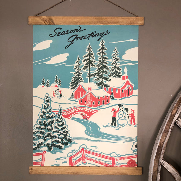 Seasons Greetings Poster Scroll