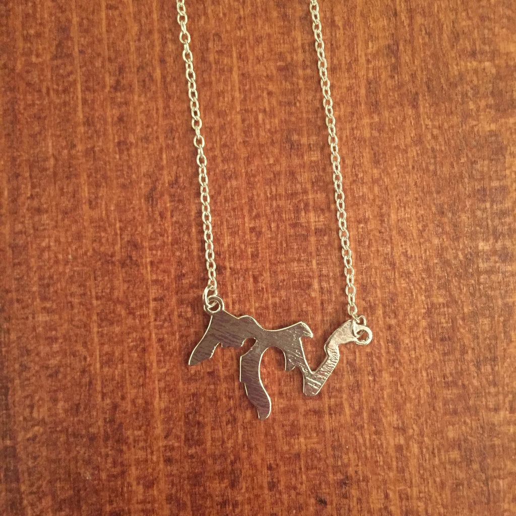 Great Lakes Silver Necklace