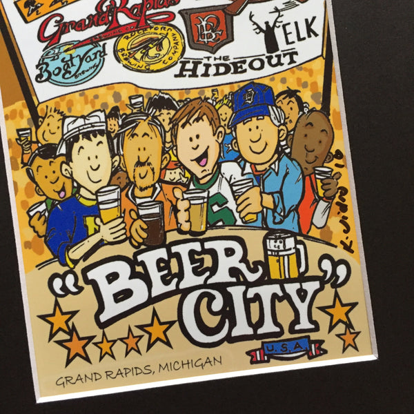 Michigan Beer City Print