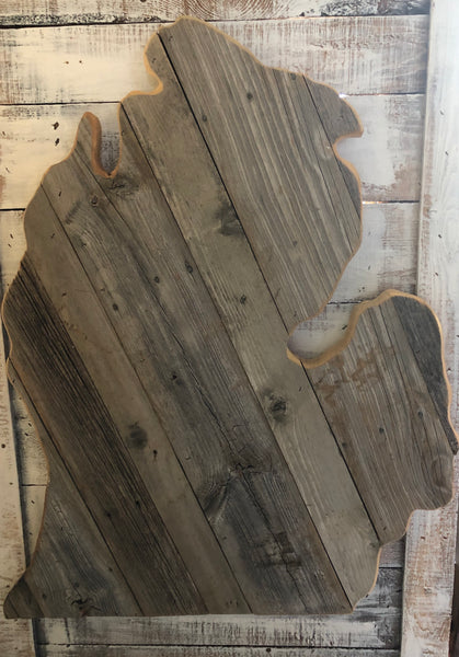 "Barn Wood Michigan ""Mitten"""