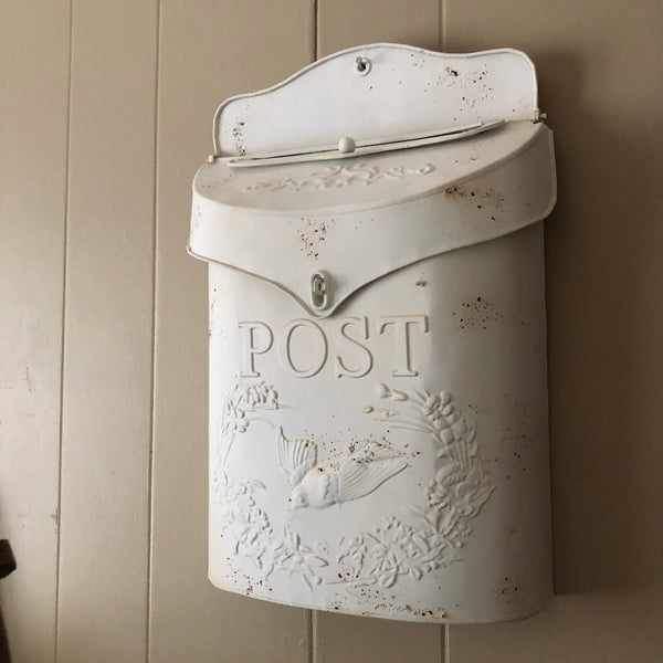 Distressed Tin Mailbox