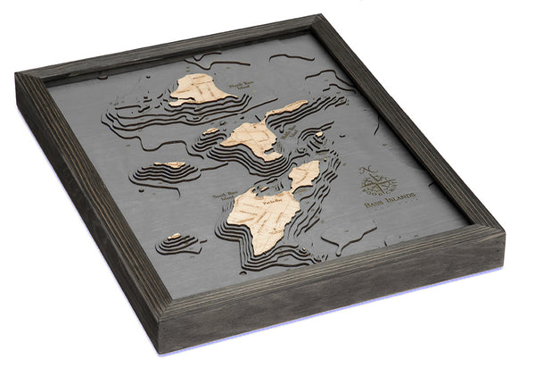 Bass Islands and Put-in-Bay Wood Map Art