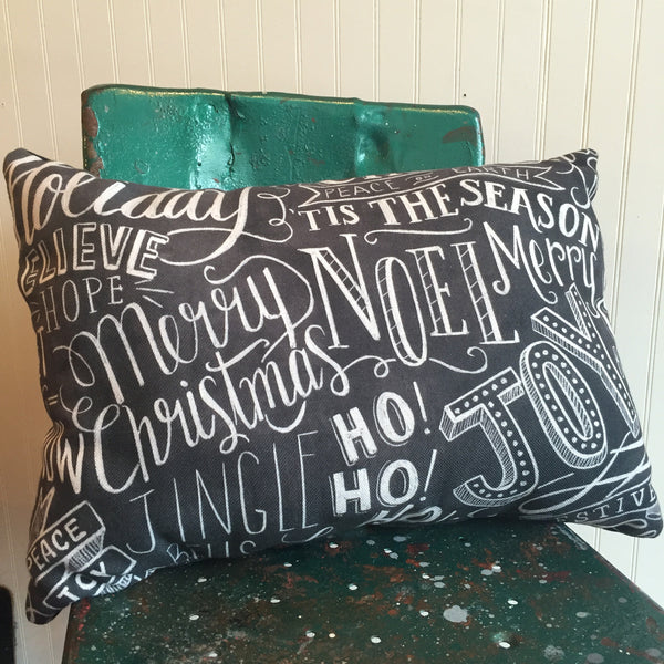 Holiday Chalkboard Pillow