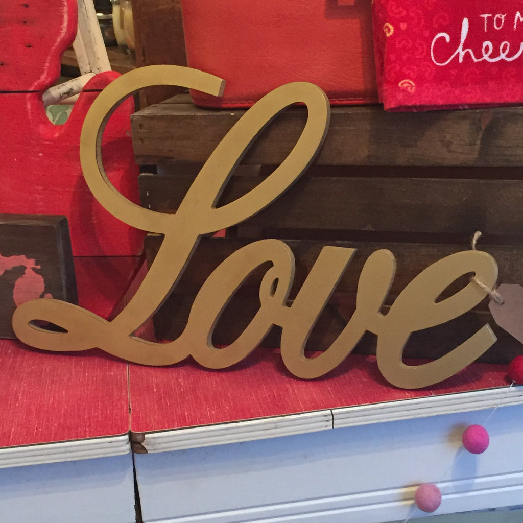 Love Script Sign