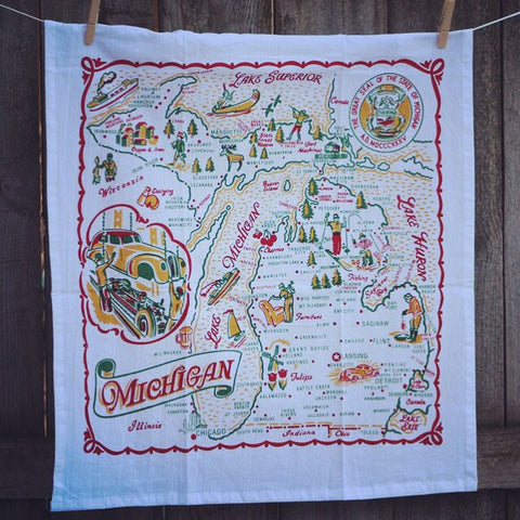 Michigan Tea Towel