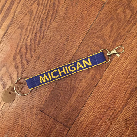 Michigan Key Chain - Blue/Maize