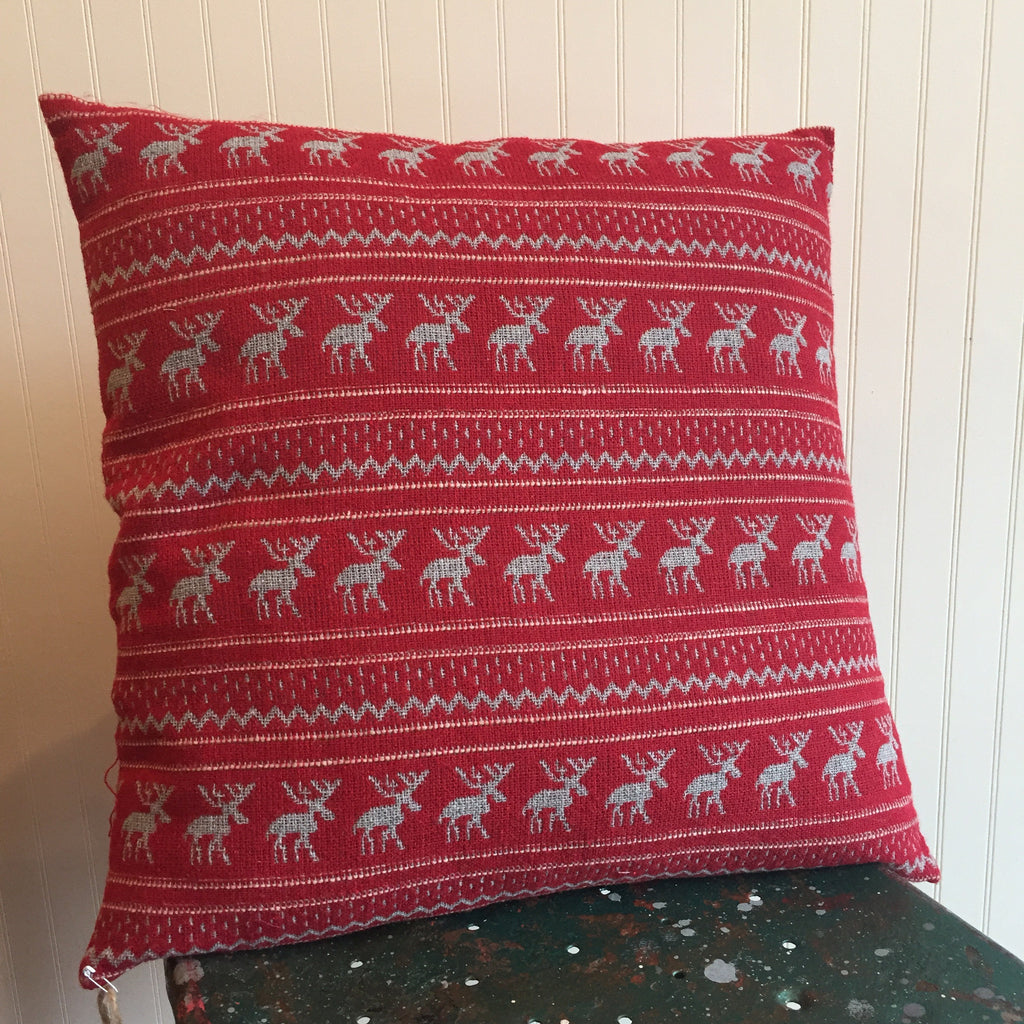 Nordic Moose Print Pillow