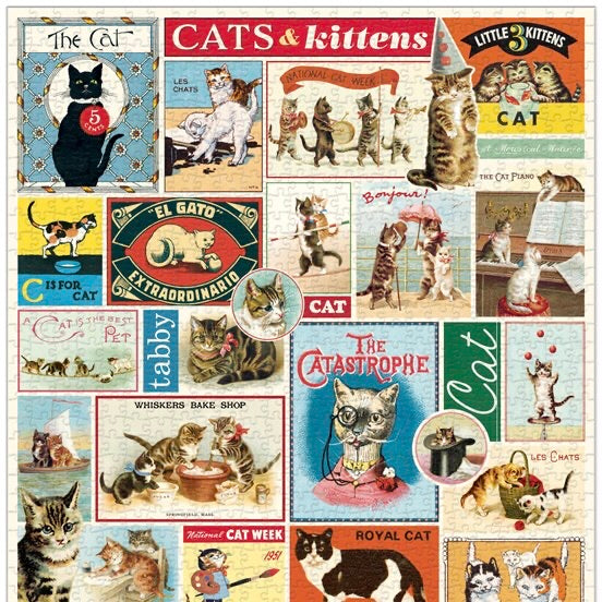 Cats and Kittens Vintage Puzzle