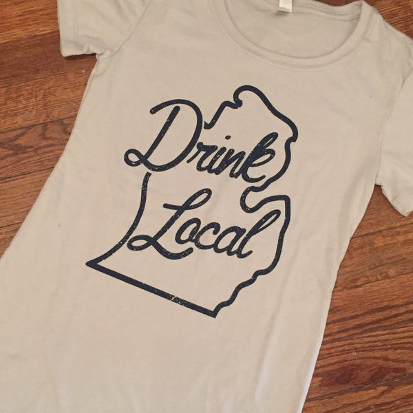 Drink Local Michigan T-Shirt - Women's Fitted