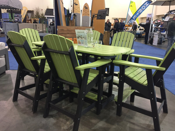 Outdoor Poly Bistro Table and Chairs - 6'