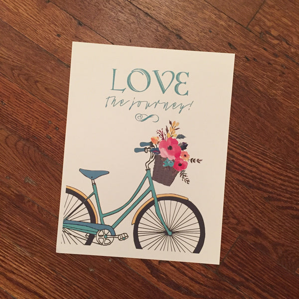 Love the Journey - Bicycle Print