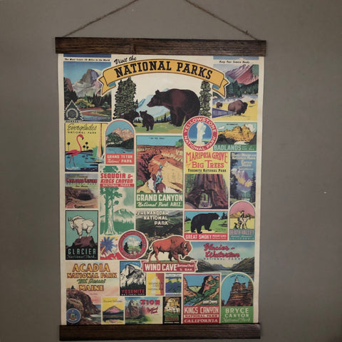 National Parks Poster Wall Hanging