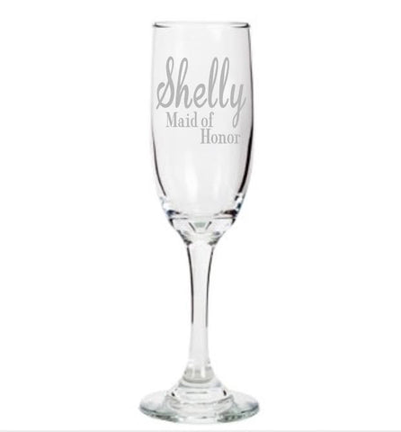 Maid of Honor Champagne Flute