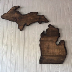 Michigan Wood Sign - Lower Peninsula