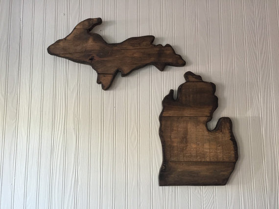 Michigan Wood Sign Set