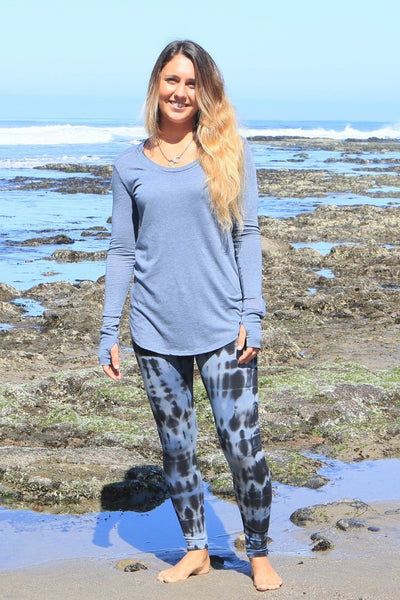 Organic Cotton Yoga Pants Night Indigo - PURAKAI