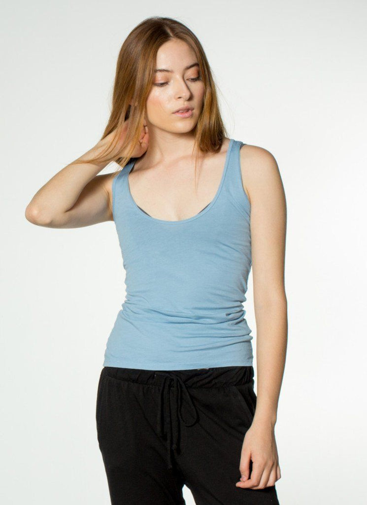 California Grown Organic Cotton Tank) no-repeat; background-size:cover; background-position:top right;