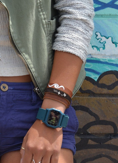 Wave Break Leather Bracelet - PURAKAI