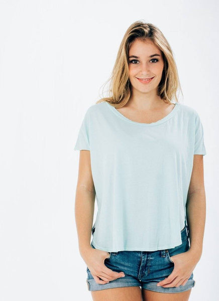 Organic Cotton Split Tee - PURAKAI