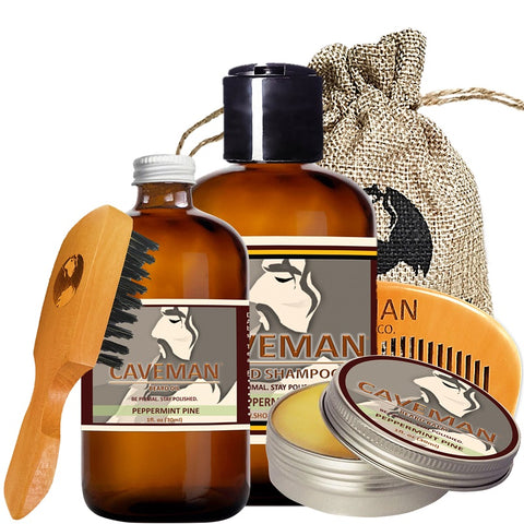 Hand Crafted Peppermint Pine Beard Oil Conditioner Beard Care 2 Oz By Caveman ® Treatments, Oils & Protectors