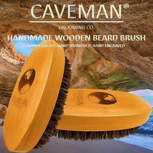 Wood Beard and Grooming Brush