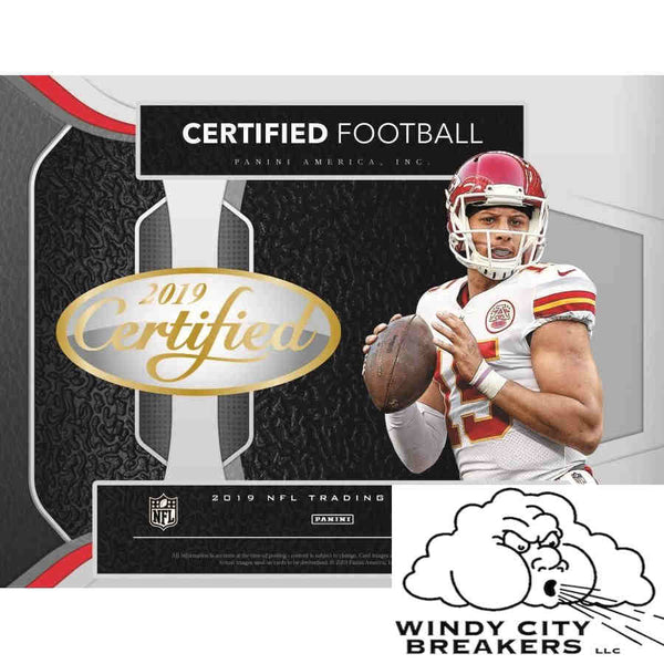 2019 Panini Certified Football 12-Box Case Pick Your Team #1 - EBAY LISTINGS END TUESDAY 7/23 @ 9PM CT, BREAKS WEDNESDAY 7/24 @ 2PM CT