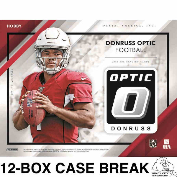 2019 Panini Donruss Optic Football 12-Box Case Pick Your Team #1 - EBAY LISTINGS END THURSDAY 12/19 @ 10:15PM CT, BREAKS FRIDAY @ 7PM CT