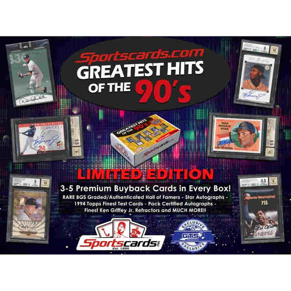 2019 Sportscards.com Greatest Hits of the 90's Baseball 10-Box Case Random Teams #1