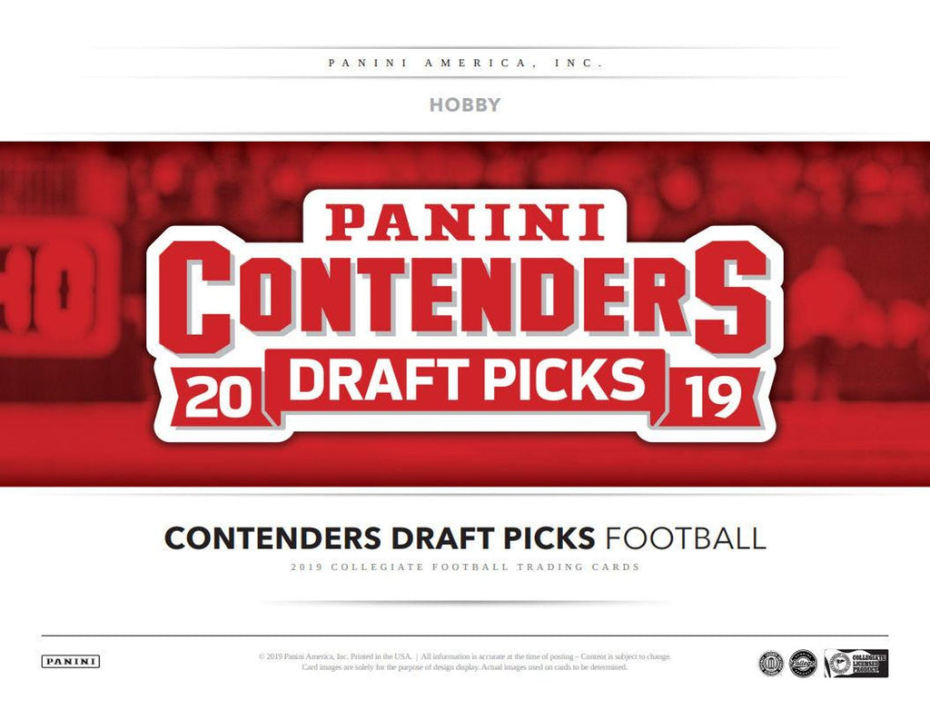 2019 Panini Contenders Draft Picks Football 12-Box Case Pick Your Team #1 - UNSOLD TEAMS BID ON EBAY - LISTINGS END SUNDAY 5/12 @ 10PM CT, BREAKS MONDAY @ 10AM CT