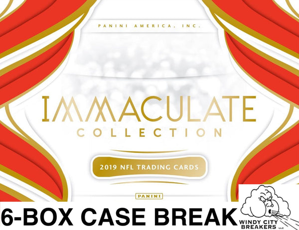 2019 Panini Immaculate Football 6-Box Case Pick Your Team #1 - EBAY LISTINGS END THURSDAY 11/14 @ 9:30PM CT, BREAKS FRIDAY 11/15 @ 4PM CT