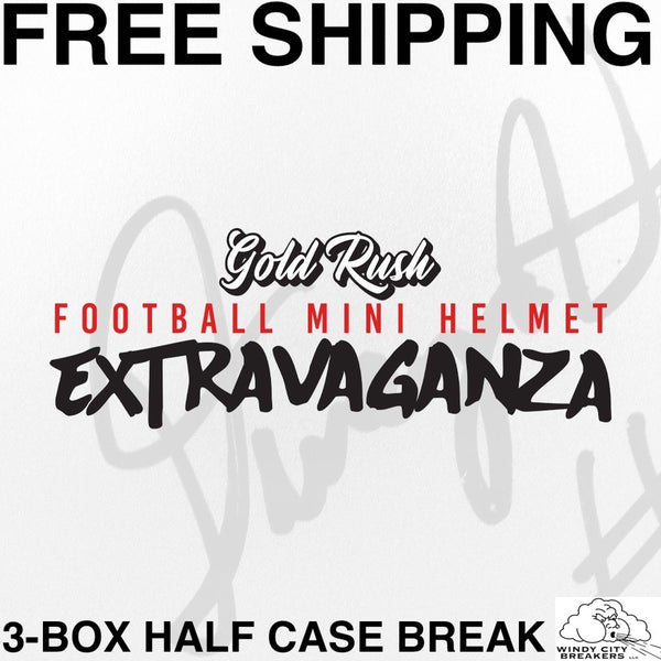 2020 Gold Rush Extravaganza Autographed Mini Helmet Football 3-Box Half Case Pick Your Team #16 - EBAY LISTINGS END FRIDAY 5/7 @ 11PM CT, BREAKS SATURDAY @ 6PM CT