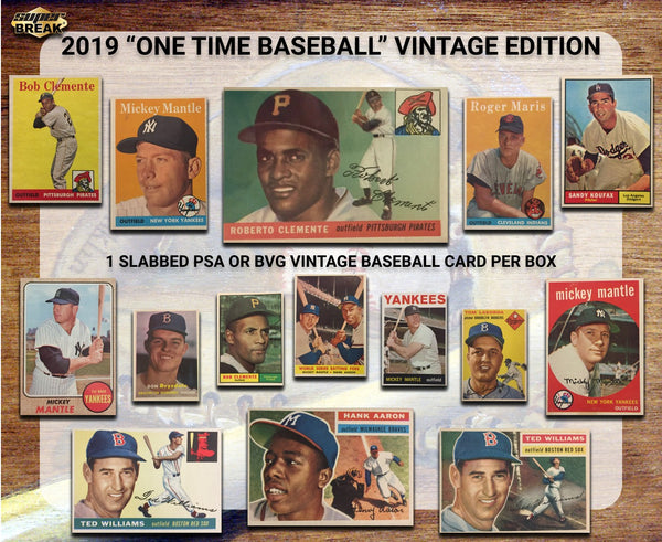 2019 Super Break One-Time Baseball Vintage Edition 1-Box Random Years #3 w/ RANDOM BONUS - USE CODE: 10%off