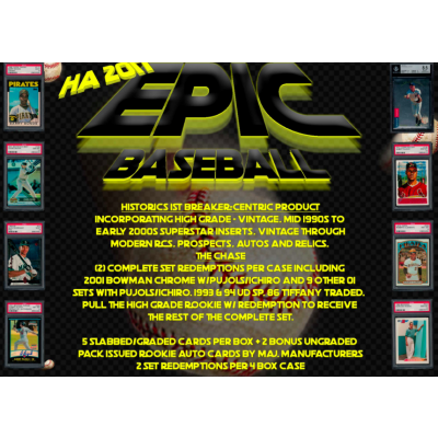 2017 Historic Autographs Epic Baseball National Breaker Exclusive Random Teams #3 - SALE!