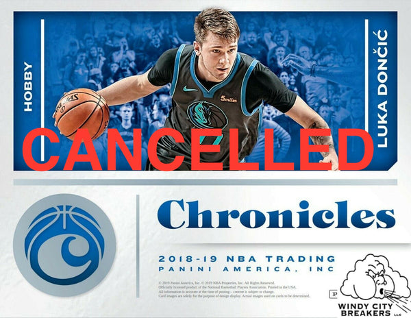 2018-19 Panini Chronicles Basketball 12-Box Case Pick Your Team #1 - EBAY LISTINGS END SATURDAY 6/29 @ 9:45PM CT, BREAKS @ 11:45 PM CT (CANCELLED)