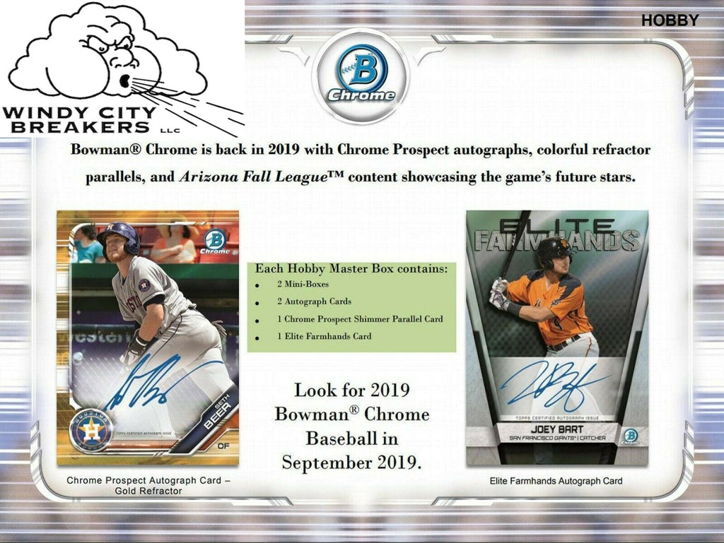 2019 Bowman Chrome Baseball Hobby 12-Box Case Pick Your Team #2 - EBAY LISTINGS END TUESDAY 9/17 @ 11PM CT, BREAKS FRIDAY 9/20 @ 11:45PM CT