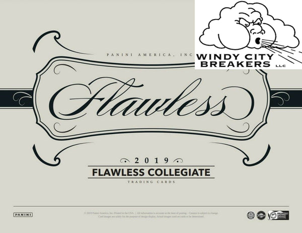 2019 Panini Flawless Collegiate Football 1-Box Half Case Pick Your Team #1 - EBAY LISTINGS END TUESDAY 9/17 @ 9:15PM CT, BREAKS THURSDAY 9/19 @ 9PM CT