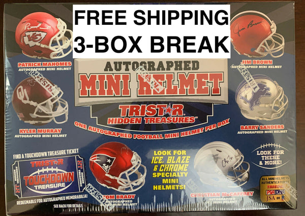 2019 Tristar Hidden Treasures Autographed Mini Helmet 3-Box Pick Your Team #8 - EBAY LISTINGS END SUNDAY 7/5 @ 10:30PM, BREAKS MONDAY 7/6 @ 5PM CT