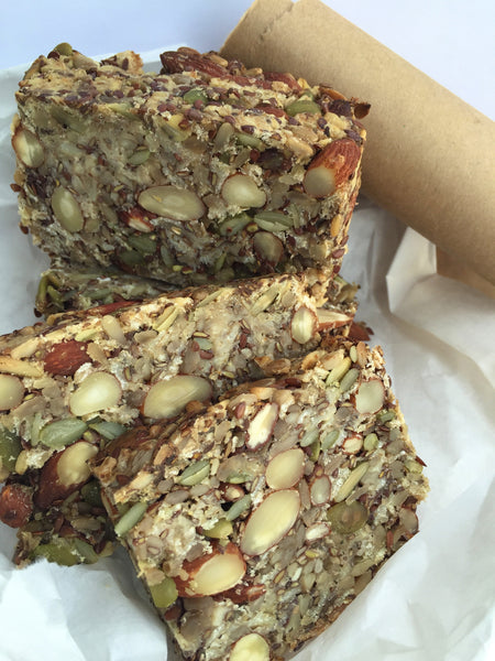 Seeded Nut Bread, vegan, gluten free (minimum order 2 breads)