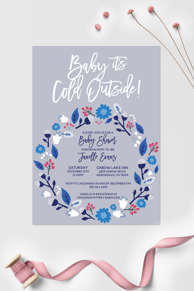 Winter Baby Shower Invitations – Tiny Whiney