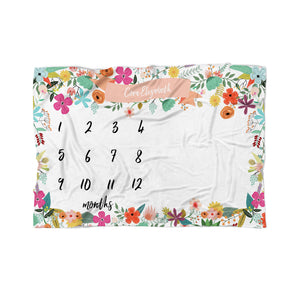 Girls Milestone Blanket - Tiny Whiney