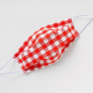 Cotton Mask - Red Gingham