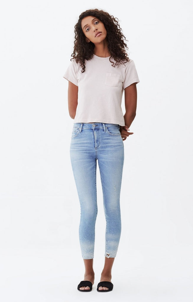 ROCKET CROP HIGH RISE SKINNY IN WATERFALL