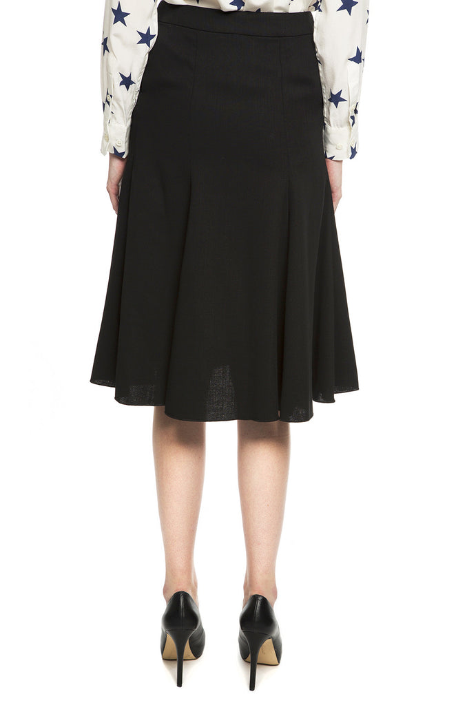 Wool Crepe Skirt